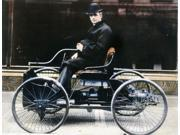 Henry Ford (1863-1947) Namerican Automobile Manufacturer Ford In 1896 With The First Ford Automobile Oil Over A Photograph Poster Print by  (18 x 24)
