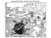 Labor Cartoon 1942 NGassing The Troops On Our Own Front Line American Cartoon By Dr Seuss (Theodor Geisel) For The New York City Newspaper Pm 26 March 1942 Crit