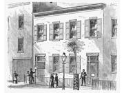 New York Dispensary 1868 Nbond Street Homeopathic Dispensary Bond Street New York Wood Engraving 1868 Poster Print by  (18 x 24)