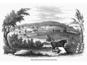 Battle Of Bennington 1777 Nthe Battlefield At Bennington Vermont Wood Engraving American Mid-19Th Century Poster Print by  (18 x 24)