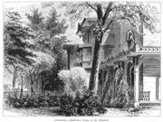 Hartford Armsear Mansion NArmsmear The Samuel Colt Mansion At Hartford Connecticut Wood Engraving C1876 Poster Print by  (18 x 24)