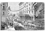 St Louis Parade 1872 Nthe Saengerfest (Music Festival) Parade At St Louis Missouri Passing Through South Fourth Street Wood Engraving From An American Newspaper 9SIA1S75RR8812