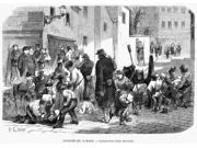 Paris Commune 1871 Nconstructing A Barricade Wood Engraving From A Contemporary French Newspaper Poster Print by  (18 x 24)