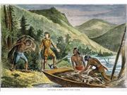 Fur Trade Njohn Jacob AstorS First Fur-Buying Expedition Up The Hudson Valley C1787 Engraving 19Th Century Poster Print by  (18 x 24)