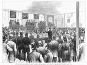 Erie Railway Auction 1878 Nex-Governor Edwin D Morgan Of New York Gives The Winning Bid Of 6000000 For The Bankrupt Erie Railway 24 April 1878 Wood Engraving Fr