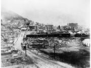 Idaho Wallace C1915 Naerial View Of The Destruction By A Forest Fire In Wallace Idaho Photograph C1915 Poster Print by  (18 x 24)