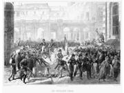 Paris Revolution Of 1830 Nfollowing Their Successful Overthrow Of King Charles X Revolutionaries In Paris France Dismantle A Barricade To Make Way For The Duke