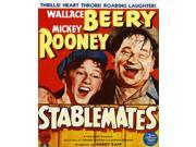 Stablemates From Left: Mickey Rooney Wallace Beery On Window Card 1938 Movie Poster Masterprint (11 x 17)