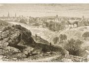 Overall View Of Salem Massachusetts In 1870S. From American Pictures Drawn With Pen And Pencil By Rev Samuel Manning Cir