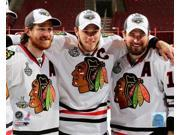 Chicago Blackhawks Captains Jonathan Toews Duncan Keith & Patrick Sharp Celebrate Winning the 2010 Stanley Cup Photo Print (8 x 10) 9SIA1S75D61746