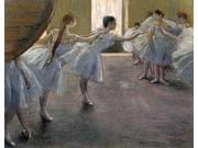 Dancers at the Rehearsal Poster Print by  Edgar Degas  (11 x 14)