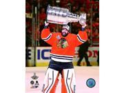 Corey Crawford with the Stanley Cup Game 6 of the 2015 Stanley Cup Finals Sports Photo (8 x 10) 9SIA1S73P80709