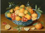 Still Life with Lemons - Oranges and a Pomegranate Poster Print by Jacob van Hulsdonck (22 x 28)