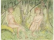 Two Women In The Forest Poster Print by Otto Mueller (22 x 28) 9SIA1S74686639