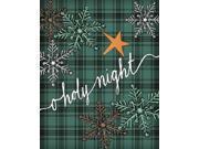 O Holy Night Plaid Poster Print by Jo Moulton (24 x 30)