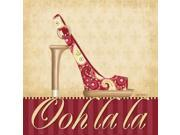 Ooh La La Shoe I Poster Print by Kathy Middlebrook (24 x 24)