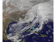 Satellite view of a powerful winter storm in the United States Poster Print (30 x 25)