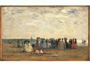 Bathers On The Beach At Trouville Poster Print (24 x 18) 9SIA1S74FS6607