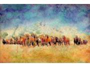 Horse Herd Poster Print by Ynon Mabat (24 x 36)