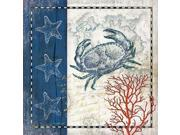 Coastal Blue Crab Poster Print by Jennifer Pugh (24 x 24) 9SIA1S740J5405