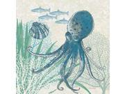 Oceana Indigo Sea Life IV Poster Print by Pamela Gladding (12 x 12) 9SIA1S740B7817