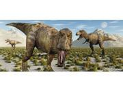 A pack of Tyrannosaurus rex dinosaurs during Earth's Cretaceous period Poster Print (21 x 9) 9SIA1S74CT8673