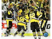 The Pittsburgh Penguins celebrating winning in overtime 2016 NHL Stanley Cup Playoffs Photo Print (8 x 10) 9SIA1S75D42437
