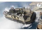 Landing Craft Air Cushion transfers equipment to USS Bonhomme Richard Poster Print (34 x 22)