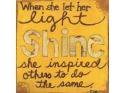 Let Her Light Shine Poster Print by Monica Martin (24 x 24)