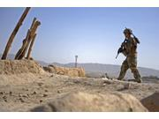 U.S. Army soldier on a foot patrol in Qalat City, Afghanistan Poster Print (34 x 22)