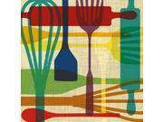 Kitchen Utensils Poster Print by Katrina Craven (12 x 12)