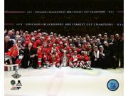 The Chicago Blackhawks celebrate winning Game 6 of the 2015 Stanley Cup Finals Photo Print (8 x 10) 9SIA1S75CX7322