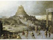 Nimrod Ordering the Construction of the Tower of Babel Poster Print by  Hendrick III Van Cleve  (9 x 12) 9SIA1S746U4668