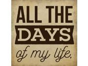 All the Days Poster Print by Aubree Perrenoud (12 x 12)