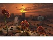 The lone figure of an astronaut explorer stands out in an alien landscape Poster Print (17 x 11) 9SIA1S74GG6893