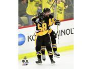 Conor Sheary & Kris Letang celebrate Shearys game winning overtime goal Game 2 of the 2016 Stanley Cup Finals Photo Print (8 x 10) 9SIA1S75VK3491
