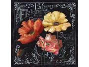 Flowers in Bloom Chalkboard II Poster Print by  Tre Sorelle Studios (24 x 24)