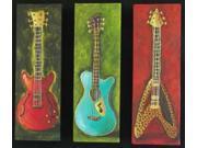 Three Guitars 2 Poster Print by Debra Ozello (20 x 16)