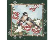 Winter Chickadees Poster Print by Anita Phillips (12 x 12)