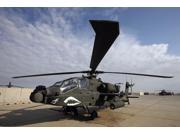 An AH-64D Apache Longbow Block III on the flight line at Camp Speicher Poster Print (17 x 11)