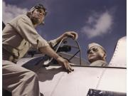 Ensign and cadet by cockpit of plane at Naval Air Station Corpus Christi Texas 1942 Poster Print by Stocktrek Images (16 x 12) 9SIA1S763M3798