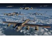A formation of British Air Force Lancaster bomber planes Poster Print by Mark StevensonStocktrek Images (18 x 11)
