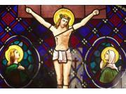 Buenos Aires Argentina A Stained Glass Window Depicting Jesuss Death In Recoleta Cemetery Poster Print by Stuart Westmorland  Design Pics (17 x 11) 9SIA1S763M3655