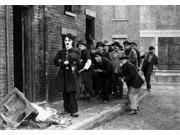 Charlie Chaplin Walking on Street with Men Following Him Photo Print  (10 x 8)