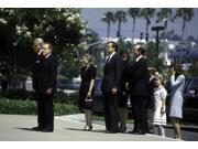 Richard Nixon and family at the funeral of Pat Nixon Photo Print  (10 x 8)