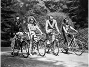 Fred Astaire and Ginger Rogers Riding Bike Photo Print  (10 x 8)