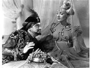 Marlene Dietrich sitting with Man in Detailed Dress with Veil Photo Print  (10 x 8)