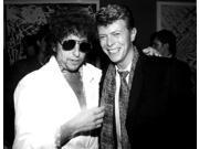 David Bowie with Bob Dylan Photo Print  (10 x 8)