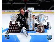 Justin Williams with the Stanley Cup Trophy the Conn Smythe Trophy and the Campbell Cup before the Los Angeles Kings victory parade Photo Print (8 x 10) 9SIA1S74YN6205