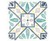 Garden Getaway Tile IX White Poster Print by Laura Marshall (24 x 24)